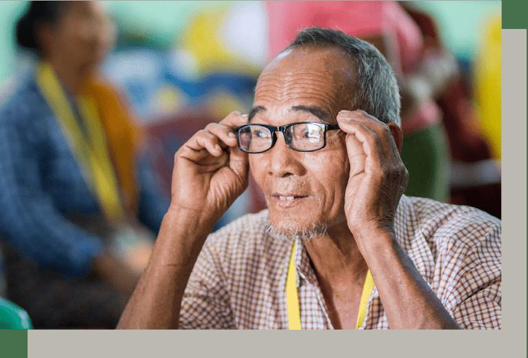 A village elder in Mandalay